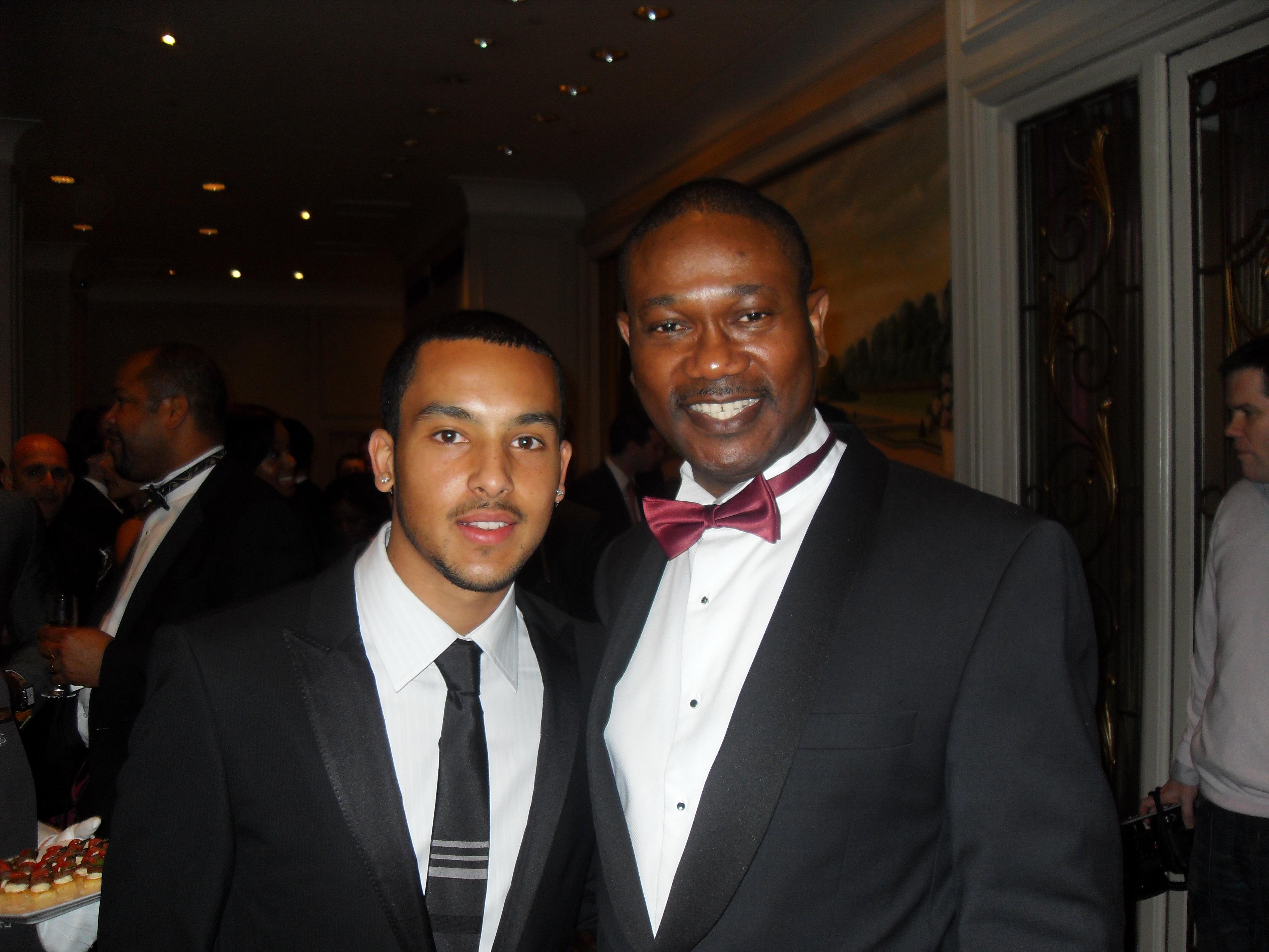 Dr. Oke with footballer Theo Walcott
